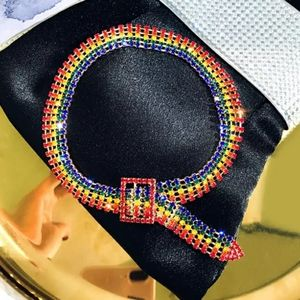 🌈Rainbow Crystal🌈Belt Choker🌈
